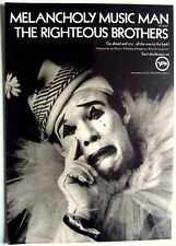 THE RIGHTEOUS BROTHERS 1967 Poster Ad MELANCHOLY MUSIC MAN pierrot
