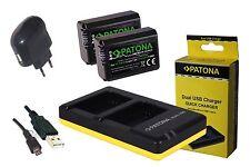 2x Patona Premium AKKU + DUAL Ladegerät  für Sony alpha a6000, ILCE-6000 NP-FW50