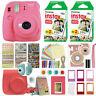 Fujifilm Instax Mini 9 Instant Film Camera Flamingo Pink + 40 Film Deluxe Bundle