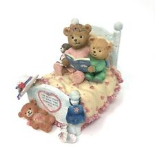 The San Francisco Music Box Company Teddy Bears Reading Storytime Bed Musical