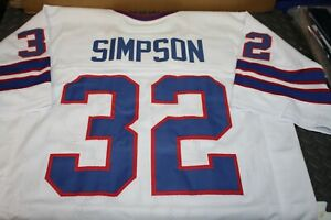 OJ SIMPSON #32 RB SEWN STITCHED WHITE THROWBACK JERSEY SIZE XL THE JUICE HOF 85