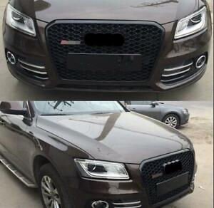For Audi Q5 SQ5 2013-2017 RS Front Grille Upper black Honeycomb Mesh Grill