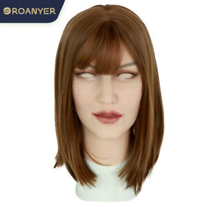 Roanyer Realistic Silicone Female Head Mask for Cosplay Crossdress Transgender