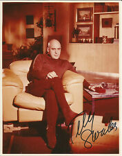 Hand Signed 8x10 photo - TELLY SAVALAS as BLOFELD in JAMES BOND - RARE + COA