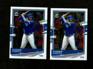(2) CARD LOT 2020 Donruss Optic #123 - Vladimir Guerrero Jr. - Toronto Blue Jays