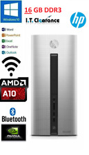 HP Pavilion 550-014a PC/AMD A10-7800/16GB/3TB 120GB SSD GTX 730 WIFI W10 OFFICE