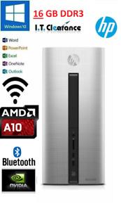 HP Pavilion 550-014a PC/AMD A10-7800/16GB/2TB 120GB SSD GT730 WIFI W10 OFFICE