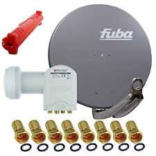 FUBA 1 2 3 oder 4 Teilnehmer Sat Anlage Schüssel 85cm A LNB OPTICUM Quad Abisol