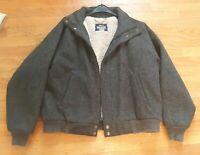 Vintage Woolrich Mens Sherpa Lined Wool Barn Snap Full Zip Jacket Coat USA Large