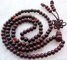 8mm Tibetan Buddhist 108 wood Prayer Bead Mala Bracelet Necklace
