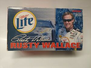 XRARE 1:24 Rusty Wallace #2 MILLER LITE VINTAGE  NASCAR coin bank brand new