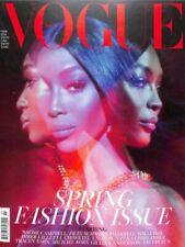 british VOGUE march 2019 Fashion Naomi Campbell cover UK Magazine NEW