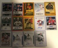 Huge NHL AUTO LOT 14 GREAT RESALE LOT HOCKEY CARDS