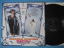 """MIRANDA MARTINO """"Napoli vol 2"""" RARO LP ORIGINALE RCA in OTTIME CONDIZIONI!"""