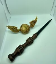 Harry potter magic wand and gold snitch Handmade edible cake toppers unofficial