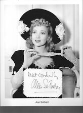 Ann Sothern  Autograph Show The Whales of August Congo Gold Rush Up Goes Maisie