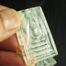 Thai Amulet Buddha Carving Phra Somdej JuiJia Quartz Crystal Stone BLESSED!!