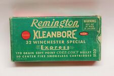 Remington Kleanbore .32 Winchester Special Express Empty Green/Red Rifle Box