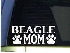 Beagle Mom sticker *H355* 8.5 inch wide vinyl dog beagles hound