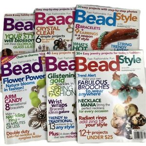 Bead Style Magazine Complete 2005 Year 6 Issues DIY Jewelry Making Bead-Working