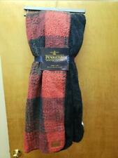 "NWT Pendleton Home Black Red Sherpa Fleece Throw 50""x70""  Reversible"