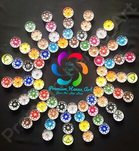 Set of 12 Henna Painted Tea Light Decorative Candles (Christmas, Diwali, Mehndi)