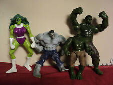 The Incredible Hulk (4) misc size action figures of the hulk  lot 43 Used no box