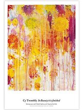 Cy Twombly Original Exhibition Poster #2 Yellows & Oranges 39X27 SOLD OUT!