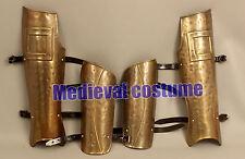 New 300 Greek Brass Antique Finish Arm & Leg Guard Armour Fantasy