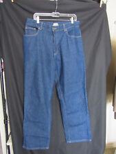 LL Bean Original Fit Traditional Cotton Denim Blue Jeans Womens 16 Regular