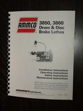 Ammco 3850 3860 Brake Lathe Instruction Manual