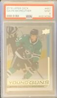 2018 2019 UD Gavin Bayreuther YOUNG GUNS CLEAR CUT ACETATE RC ROOKIE PSA 9 STARS