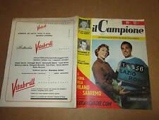 RIVISTA SPORTIVA IL CAMPIONE ANNO 1956 ANNO II° N°11 BURINI BARTALI MILANO SANRE