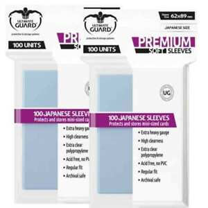 2x Ultimate Guard Premium Small/Japanese Size Soft Card Sleeves