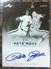 Pete Rose 2011 Leaf Legacy On Card Auto #22/30