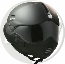 OPEN FACE SCOOTER HELMET OSBE GPA AIRCRAFT TORNADO MATT BLACK XXL 63cm+ & MASK