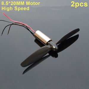 2pcsDC3.7v-5v 8.5*20MM High Speed Model Hubschrauber Quadcopter Coreless DCMotor