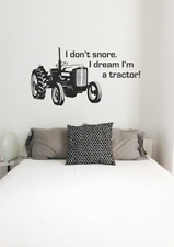 Vinyle Wall type MF 35 classic tractor Décalque for Bedroom 'I Don' t Snore'