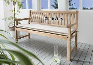 Destiny Bankpolster 170 cm Natur Auflage für Gartenbank Polster mit Stehsaum