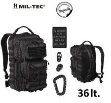 Mil-tec US Assault Pack Grande Zaino Modulare Militare Patrol Tactical Black