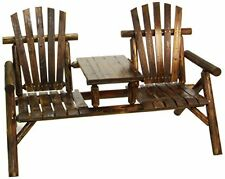 American Furniture Classics Log Two Seat Bench - Burnt Burnt