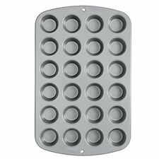 Wilton 24 Cups Recipe Right MINI MUFFIN Baking Pan Non Stick Bakeware Tin Tray