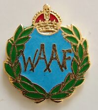 WAAF CLASSIC HAND MADE IN UK  PLATED LAPEL PIN BADGE