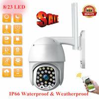 Waterproof Outdoor WiFi PTZ 1080P HD Security Camera Wireless IP CCTV IR Cam UK