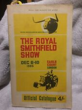 1965 The Royal Smithfield Show Official Catalogue Earls Court Rare