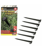 6 Pack Plastic Tie Down Stakes Anchoring Tent Camping Spikes Anchor Inflatables