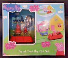PEPPA PIG Peppa's Treat Day Out Toy Set Playset Car Shop track set 3+ BNIB