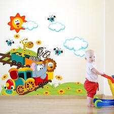 R00083 Wall Stickers Adesivi Murali Decorativi Trenino di montagna 120x80