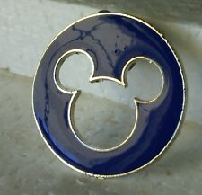 Disney Trading Pin Blue Mickey Mouse Icon Cutout Silhouette (A)