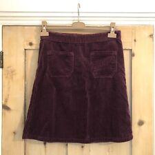 M&S Purple Corduroy Cord A-Line High Waist Vtg 60s Mini Skirt UK 10